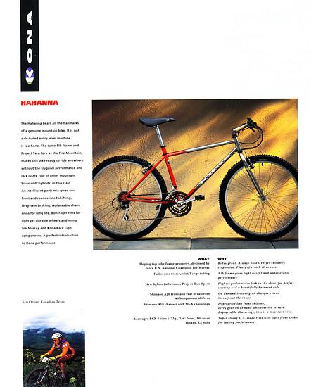 Kona (K-Bikes) Katalog '93 (11von16)