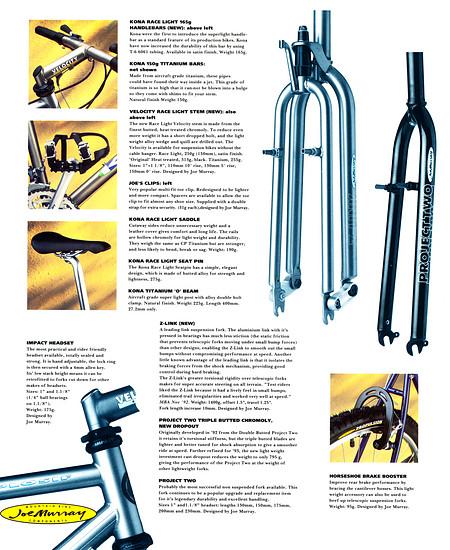 Kona (K-Bikes) Katalog '93 (12von16)