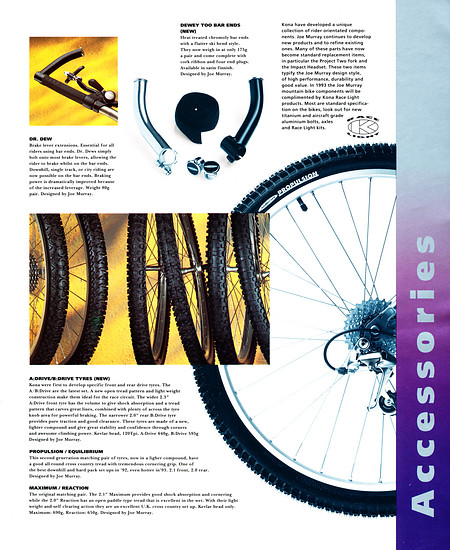 Kona (K-Bikes) Katalog '93 (13von16)