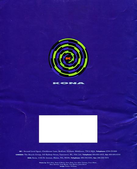 Kona (K-Bikes) Katalog '93 (16von16)