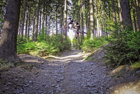 Schöneck Bikepark, One Foot Table