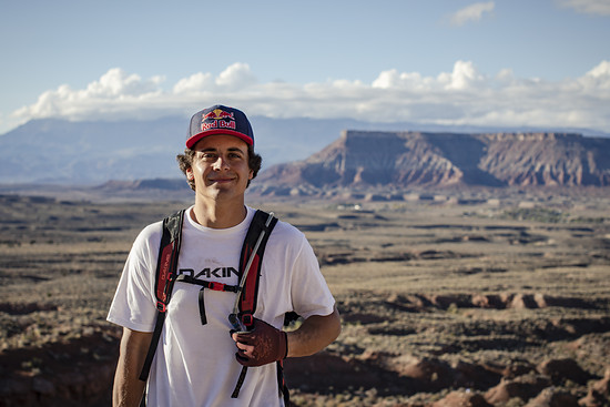 Carson Storch poses for a portrait at Red Bull Rampage in Virgin, Utah USA on 22 October, 2018. // Long Nguyen/Red Bull Content Pool // AP-1X9P7XRSW2111 // Usage for editorial use only // Please go to www.redbullcontentpool.com for further informatio