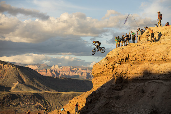 Carston Storch rides during the Red Bull Rampage in Virgin, Utah, USA on 23 October, 2018. // Christian Pondella/Red Bull Content Pool // AP-1X9ZWK2UH2111 // Usage for editorial use only // Please go to www.redbullcontentpool.com for further informat