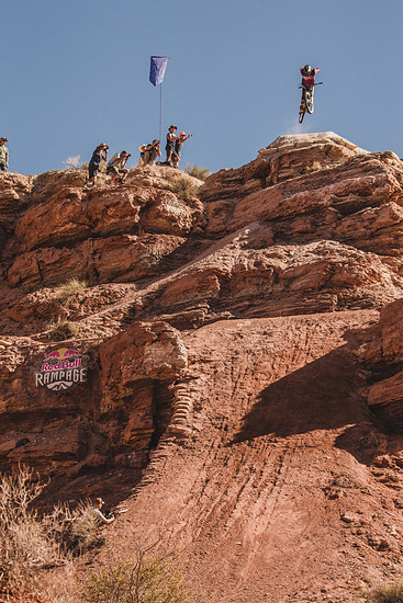 Kyle Strait rides during the Red Bull Rampage in Virgin, Utah, USA on 26 October, 2018. // Peter Morning/Red Bull Content Pool // AP-1XAYRUFA52111 // Usage for editorial use only // Please go to www.redbullcontentpool.com for further information. //