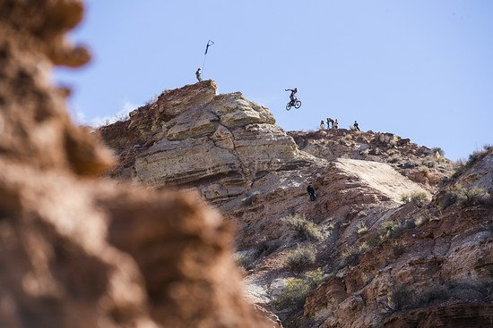 Tyler McCaul rides during the Red Bull Rampage in Virgin, Utah, USA on 26 October, 2018. // Christian Pondella/Red Bull Content Pool // AP-1XAYRWP2D2111 // Usage for editorial use only // Please go to www.redbullcontentpool.com for further informatio