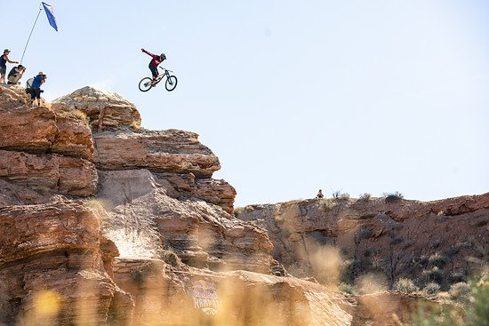Kyle Strait competes at Red Bull Rampage in Virgin, Utah, USA on 26 October, 2018. // Garth Milan/Red Bull Content Pool // AP-1XAYSUJ9S2111 // Usage for editorial use only // Please go to www.redbullcontentpool.com for further information. //