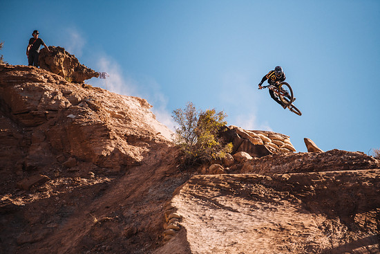 Reed Boggs competes at Red Bull Rampage in Virgin, Utah on October 26, 2018 // Paris Gore / Red Bull Content Pool // AP-1XAYTSAMH2111 // Usage for editorial use only // Please go to www.redbullcontentpool.com for further information. //