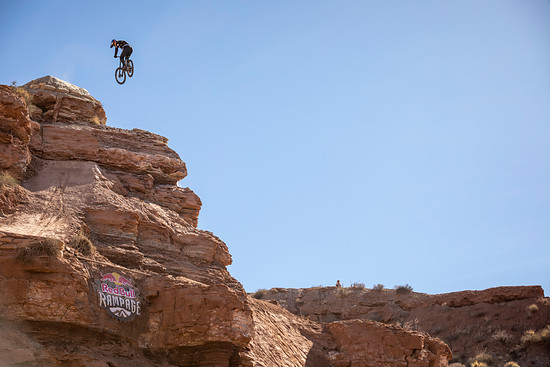 Carson Storch competes at Red Bull Rampage in Virgin, Utah, USA on 26 October, 2018. // Garth Milan/Red Bull Content Pool // AP-1XAYSC9812111 // Usage for editorial use only // Please go to www.redbullcontentpool.com for further information. //