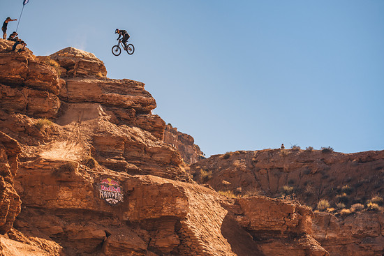 Carson Storch competes at Red Bull Rampage in Virgin, Utah on October 26, 2018 // Paris Gore / Red Bull Content Pool // AP-1XAYTEAA12111 // Usage for editorial use only // Please go to www.redbullcontentpool.com for further information. //