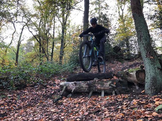 Im Einsatz auf den heimischen Trails im Ruhrgebiet