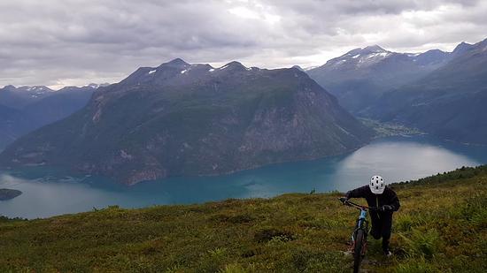 Bikebergsteigen in Norwegen