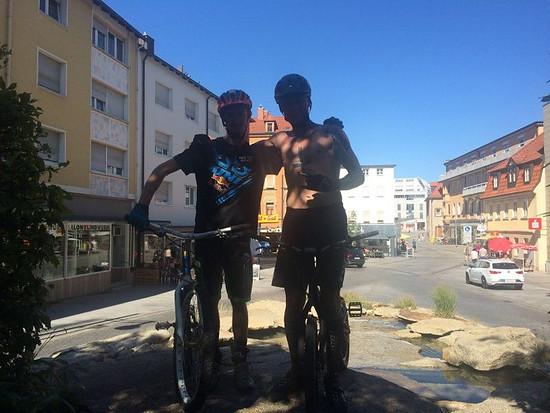 Stadt Schweinfurt Session mit Trial Bike Kumpel Justin