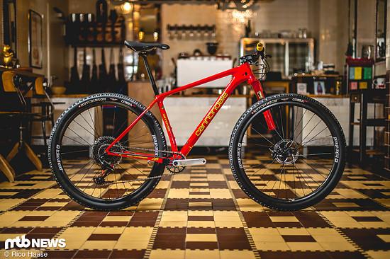 Das Komplettrad in rot