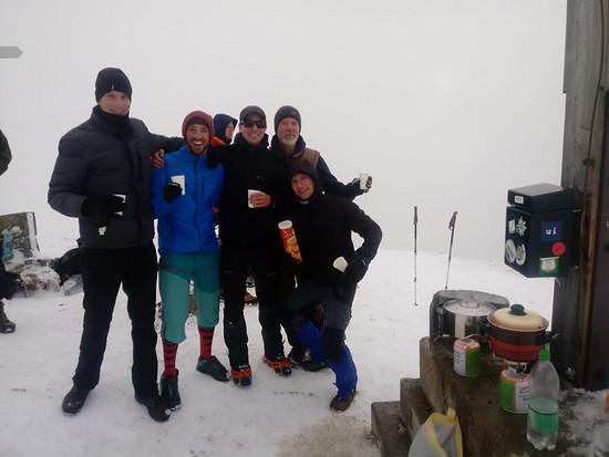 Glühwein Party am Gipfelkreuz