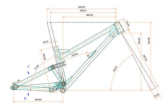 Sick Bicycle Gnarpoon Geometrie