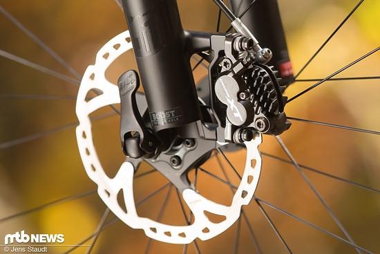 Gewaltige Bremsen für ein Trailbike