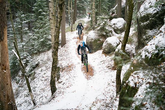 Der erste Schnee im Zittauer Gebirge