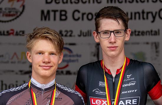 Louis Krauss und Thore Hemmerling fahren ab 2019 für das Lexware Mountainbike Team.