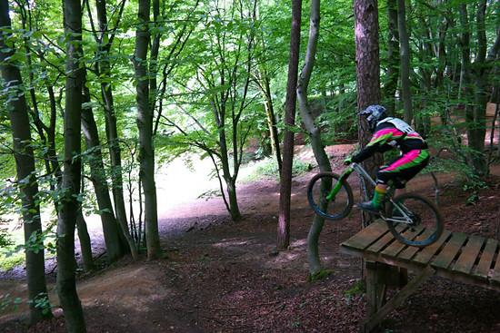 An der Nr.9 im Bikepark Osternohe Abziehen!!!