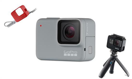 Für Platz 3 gibt es eine GoPro HERO7 White inklusive Shorty und Hülle