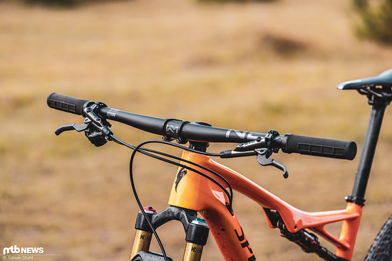 Der Newmen Advanced SL-Lenker ist in Kombination mit dem Newmen Evolution SL-Vorbau das leichteste Cockpit, das aus dem Oberallgäu angeboten wird