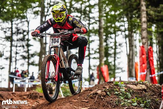Auch beim Downhill World Cup-Finale 2018 im französischen La Bresse war Erik Irmisch am Start