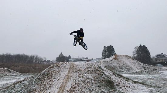 Schneegestöber in Bad Vibel.