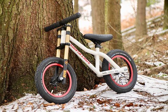 Santa Cruz mini DH kids Bike Eigenbau aus Titan :)