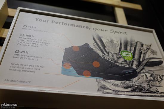 Auch beim Schuh versucht man, Recycling-Materialien zu verwenden.