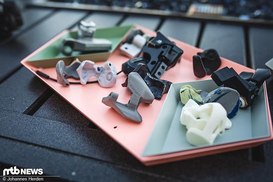 Viele verschiedene Trigger-Varianten wurden geformt und wieder verworfen, bis man letztendlich bei der Wannenform angelangt war.