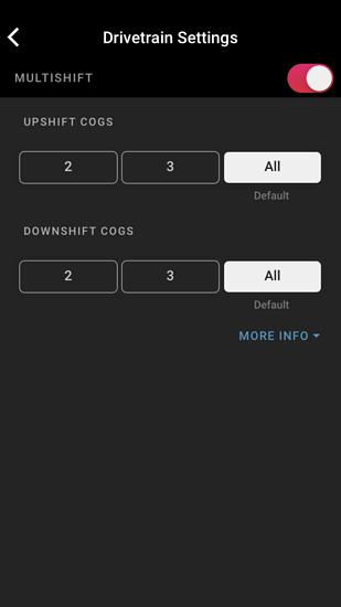 """Wie viele Schaltvorgänge für die Eagle-Schaltung dürfen es bei gedrückter Schaltwippe denn sein? SRAM bietet 2, 3 oder """"alle"""" an."""