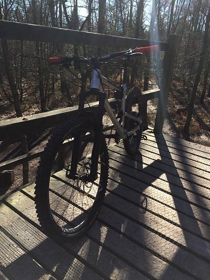 Auf dem Startturm im Bikepark Dreiländereck