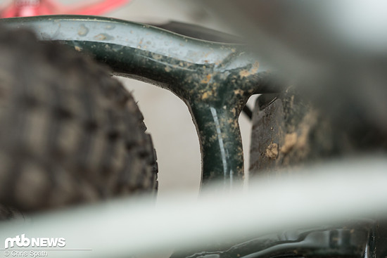 Nach vorne geizt das Jekyll nicht mit Reifenfreiheit, zu den Seiten ist noch Luft nach oben