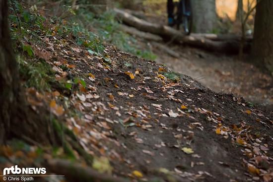 Loser Untergrund offenbart viel über den Grenzbereich eines Bikes