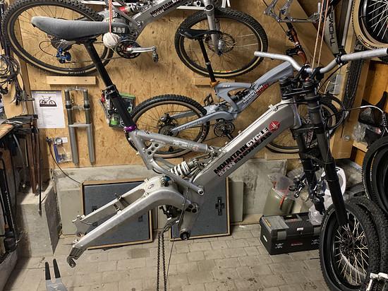 Strip das alte Bike