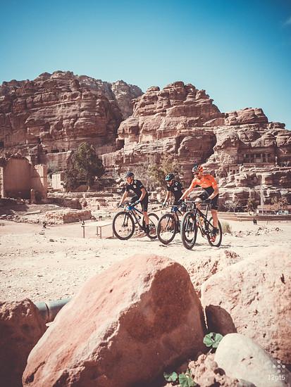 Daniel Gathof, Remi Laffont und Simon Gegenheimer in Petra
