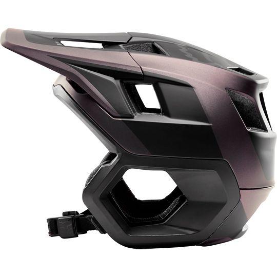Der neue Fox Dropframe-Helm kostet 150 € und soll viel Schutz ohne Kinnbügel bieten
