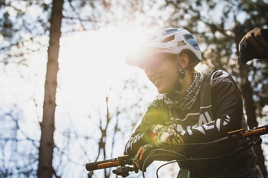 Nina Hoffmann ist die derzeit wohl schnellste deutsche Downhill-Fahrerin