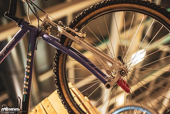 Federgabel aus der Frühzeit des Mountainbikes