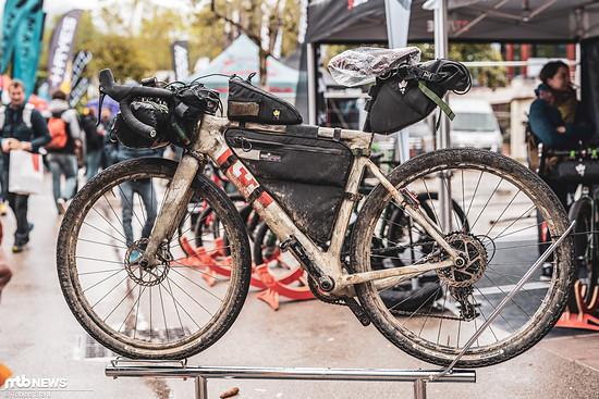Wer mit dem Rad zum Bike Festival fuhr, sah in diesem Rad recht nass aus