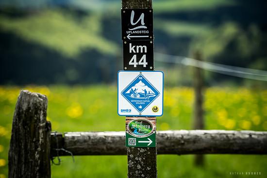 Insgesamt sind 1700 Kilometer Wegenetz ausgeschildert
