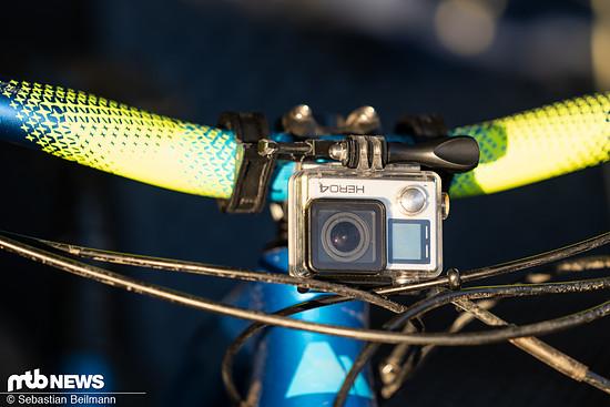 ... und mit montierter GoPro Kamera