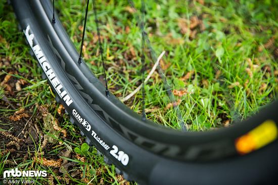 Bei Orbea wird auf Michelin-Reifen gesetzt