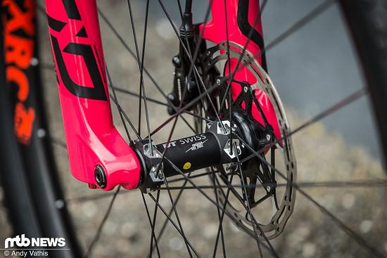 Laufräder und Naben kommen von DT Swiss