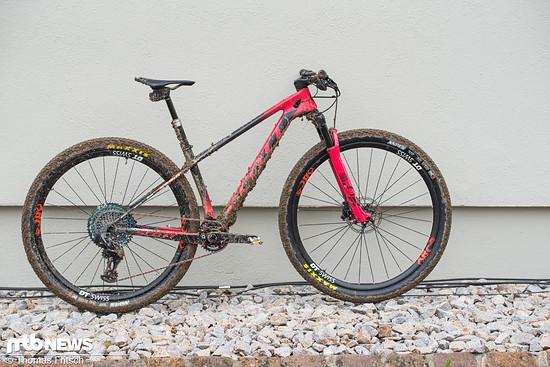 Das Bike der Weltmeisterin nach dem Renneinsatz