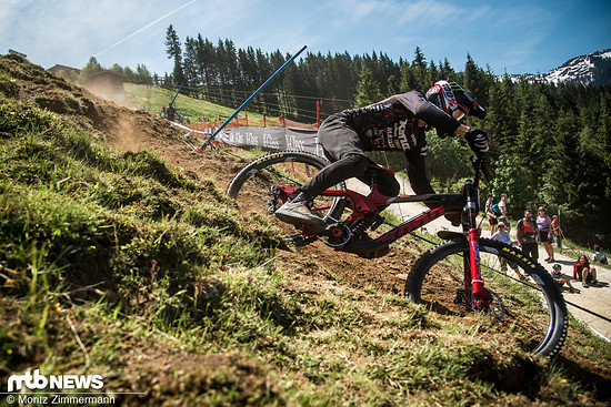 Connor Fearon ist immer schnell in Leogang