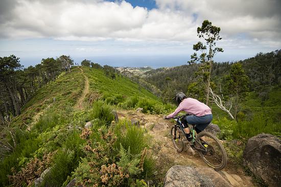 Stage 27 sollte weniger ruppig sein, der Trail ist aber sehr ausgebombt und deswegen auch hart für die Arme