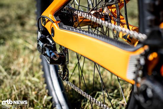 Kaum ein modernes High-End-DH-Bike kommt noch ohne das SRAM X01 DH-Schaltwerk aus.