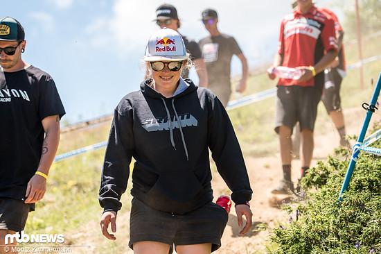 Vali Höll konnte das Rennen in Andorra gewinnen, plagt sich aber mit einer verletzten Schulter rum