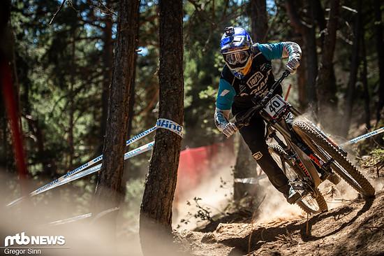Das Team hat die Rahmen erst direkt vor dem Rennen in Andorra bekommen und ist sie ein paar Mal im Training gefahren